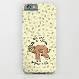 Lazy Sloth-Humor-Animal-Coffee  iPhone Case
