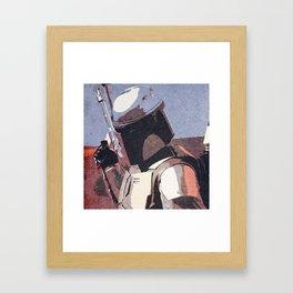 Bobba Fett | The Bounty Hunter | Star War Art Framed Art Print