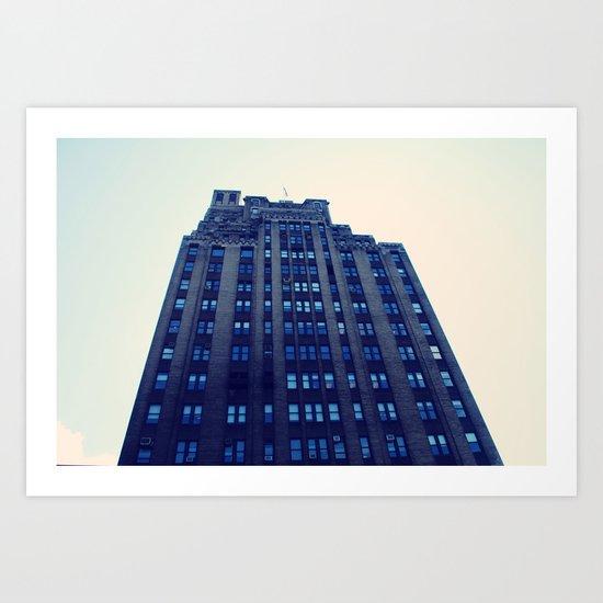 NYC Blue Art Print
