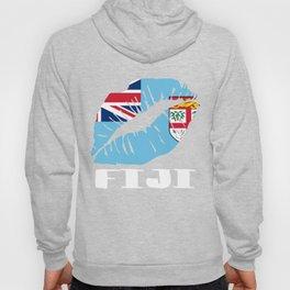 FJI Fiji Kiss Lips T Shirt Hoody