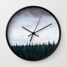 Alaska Trees in Denali National Park Wall Clock
