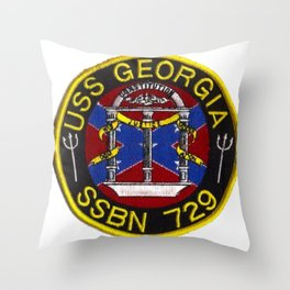 USS GEORGIA (SSBN-729) PATCH Throw Pillow
