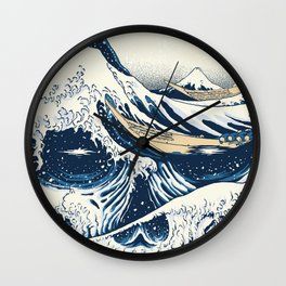 The Great Wave Off Skull Japanese Style Wall Clock