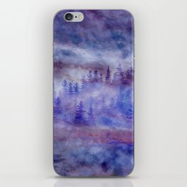 Misty Pine Forest iPhone Skin