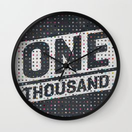 One Thousand Wall Clock