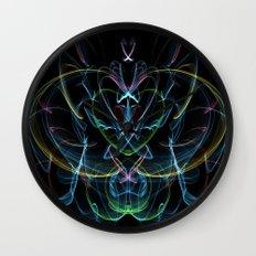 Digital Lotus Flower Wall Clock