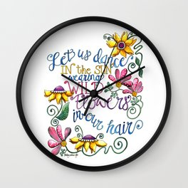 Let Us Dance Wall Clock