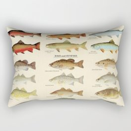 Illustrated Eastern Game Fish Identification Chart Rectangular Pillow