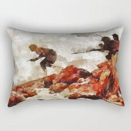 Into Battle, WWII Rectangular Pillow