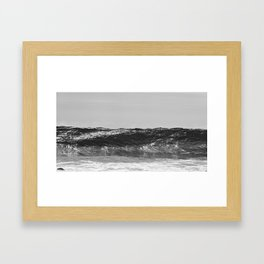 Monochrome Wave Framed Art Print