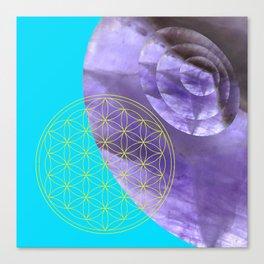Mystical Flower of Life Amethyst #society6 Canvas Print