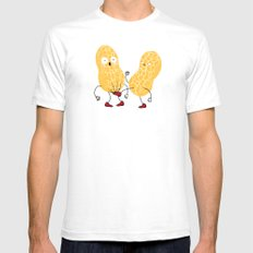 In the nuts White Mens Fitted Tee SMALL