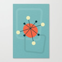Mid century atomic design Canvas Print