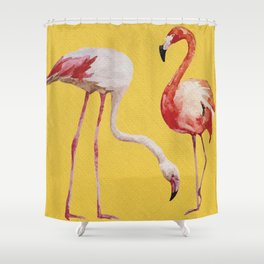 Bold Flamingo Caribbean and Tropical inspired design Shower Curtain