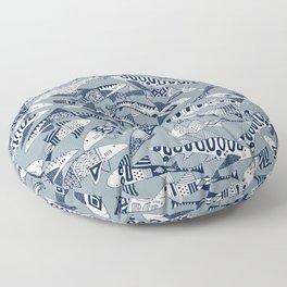 shark party blue Floor Pillow