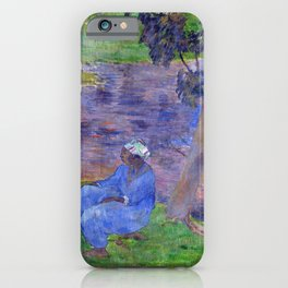 """Paul Gauguin """"On the shore of the lake at Martinique"""" iPhone Case"""