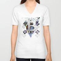 korea V-neck T-shirts featuring bitcoin south korea by seb mcnulty