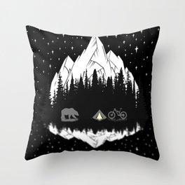 Camping Throw Pillow