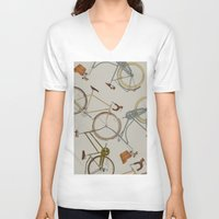 bicycles V-neck T-shirts featuring bicycles by Golden Boy