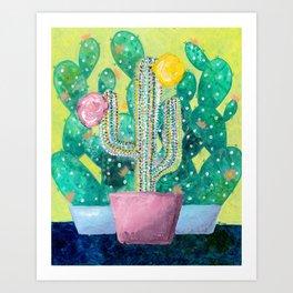 Cactus in a Pink Pot Art Print