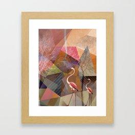 FLAMINGOS P23-C Framed Art Print