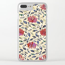 Tiger Rose Pattern Clear iPhone Case