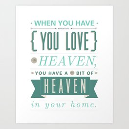 Someone In Heaven-BLUE Art Print