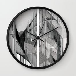 My Complicated Heart. Abstract Art Wall Clock