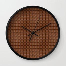Just chocolate / 3D render of dark chocolate Wall Clock