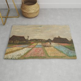 Bulb Fields by Vincent van Gogh Rug