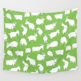 Green Goats Wall Tapestry