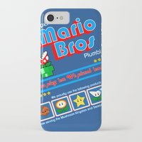 mario bros iPhone & iPod Cases featuring Super Mario Bros Plumbing by brit eddy