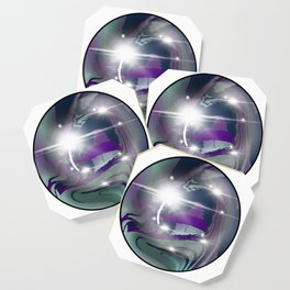 Rainbow Fluorite Crystal Ball Coaster