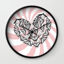 Love Conquers Hate Wall Clock