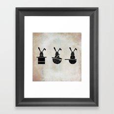 rabbits Framed Art Print