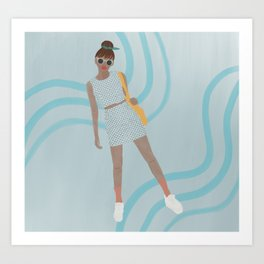 Blue Girl Art Print