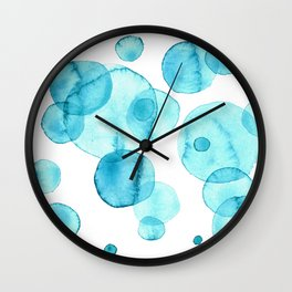 Turquoise bubbles. Wall Clock