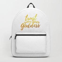 Trust Your Inner Goddess (Gold) Backpack