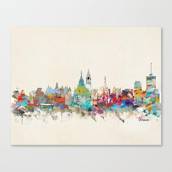 Ottawa Ontario skyline Canvas Print