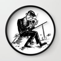 hamlet Wall Clocks featuring Hamlet by Mike Laughead