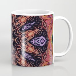 Fire Within // Vibrant Geometric Abstract Visionary Art Digital Painted Magical Red Orange Coffee Mug