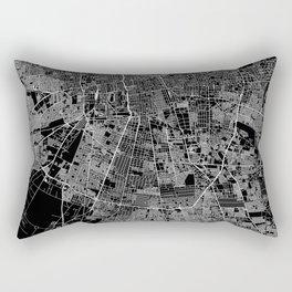 Santiago Black Map Rectangular Pillow