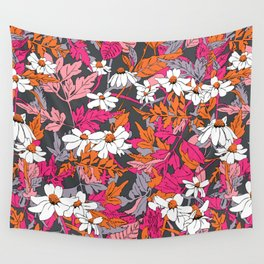 Bright Floral Fun Wall Tapestry