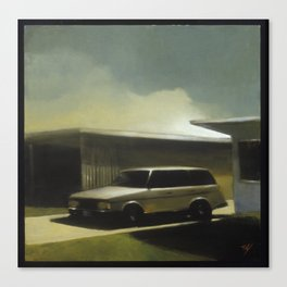 Her Old Volvo Canvas Print