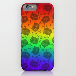 Rainbow Meows (black version) iPhone Case