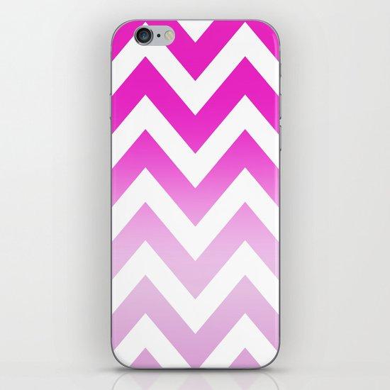 PINK CHEVRON FADE 2 iPhone & iPod Skin