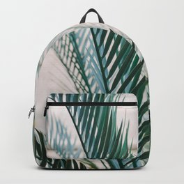Botanical Garden | Fine art photography print | Shades of green and blue Backpack