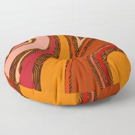 Copper Wave Floor Pillow