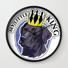 Labrador black king Wall Clock