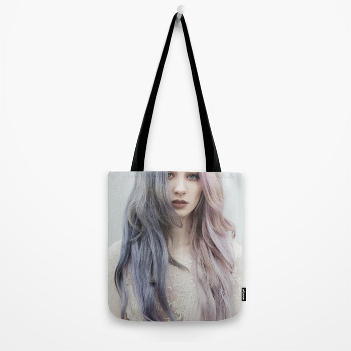 Pink green Tote Bag